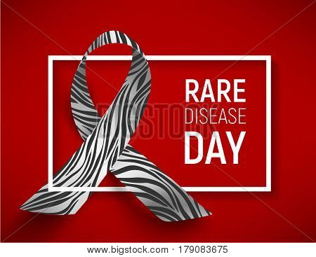 Symbol of rare disease day, vector illustration