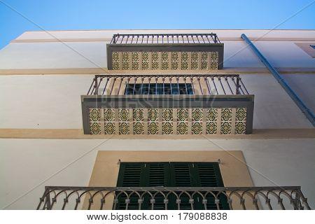 Balconies With Decorative Floor Tiles