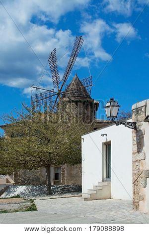 Palma Entrance And Windmill