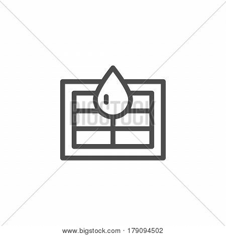 Sewerage system line icon isolated on white. Vector illustration