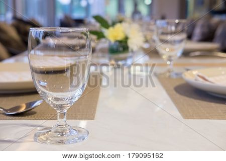 Table setting ready for a formal gathering