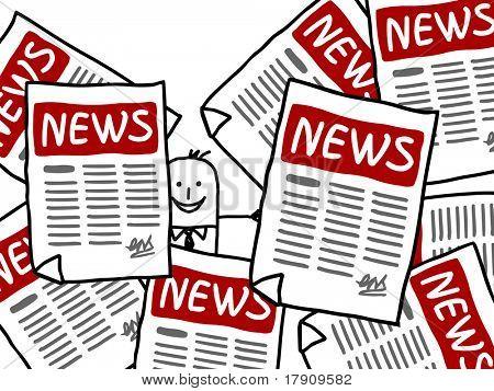 businessman and NEWS ads