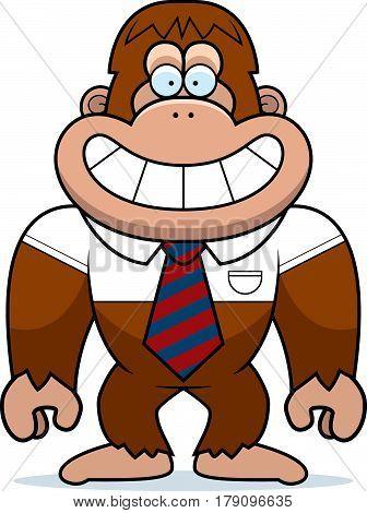 Cartoon Bigfoot Tie