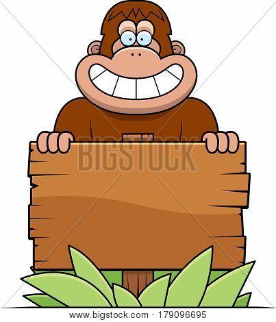 Cartoon Bigfoot Sign