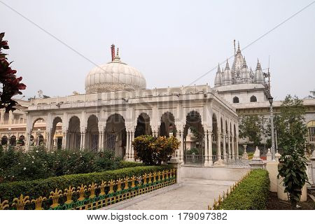 KOLKATA, INDIA - FEBRUARY 09: Jain Temple (also called Parshwanath Temple) is a Jain temple at Badridas Temple Street is a major tourist attraction in Kolkata, West Bengal, India on February 09, 2016.