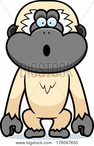 Cartoon Gibbon Surprised