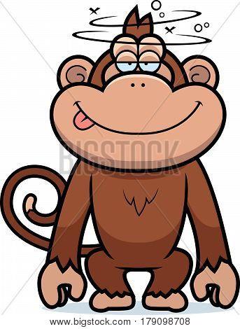 Cartoon Stupid Monkey