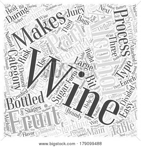 The Process Of Manufacturing Wine Word Cloud Concept