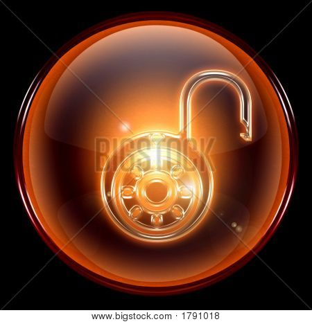 Lock On, Icon. ( With Clipping Path )