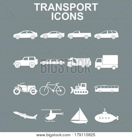Transportation icons. Vector concept illustration for design.