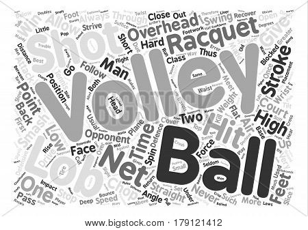THE VOLLEY AND OVERHEAD SMASH text background word cloud concept
