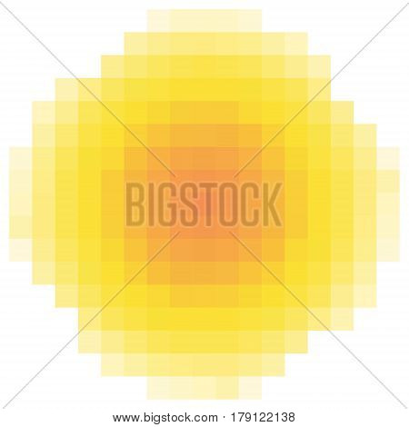 pixel sun element background logo, vector logo of the pixel sun