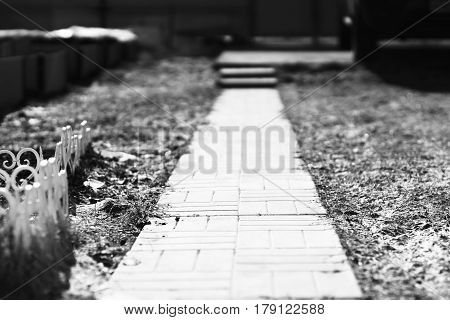 Black and white garden walk background hd
