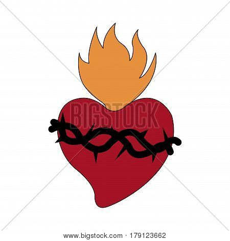 sacred heart icon image vector illustration design
