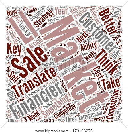 Think Like A Financier text background word cloud concept
