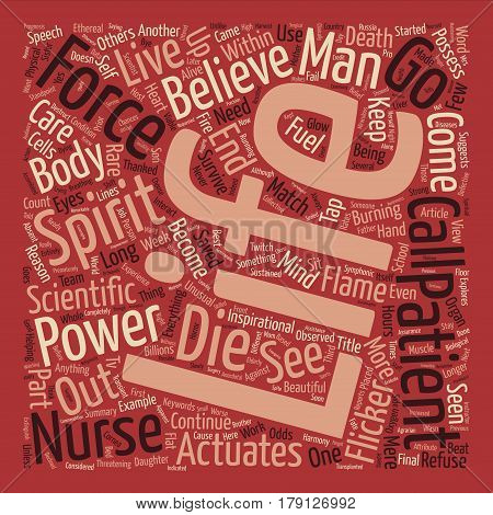 This I Believe as to How and Why Some Patients Refuse to Die text background word cloud concept
