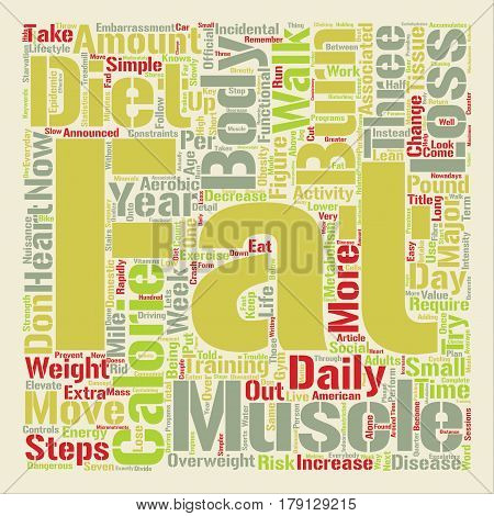 Three Simple Steps to Fat Loss text background word cloud concept