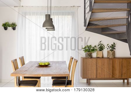 Dining Room With Stairs