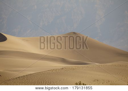 Sand dunes at Mesquite Flat Dunes in California