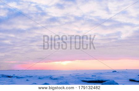 Setting Sun Sunset in the Arctic