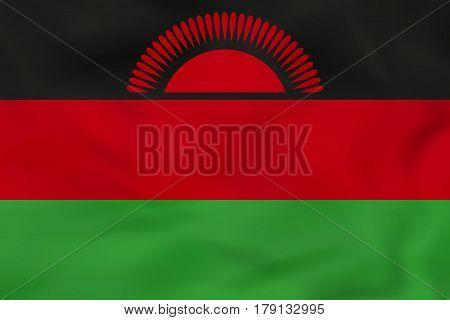 Malawi Waving Flag. Malawi National Flag Background Texture.