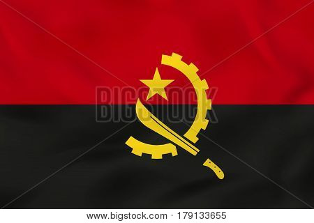 Angola Waving Flag. Angola National Flag Background Texture.