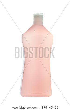 isolated on white beauty or shampoo bottle