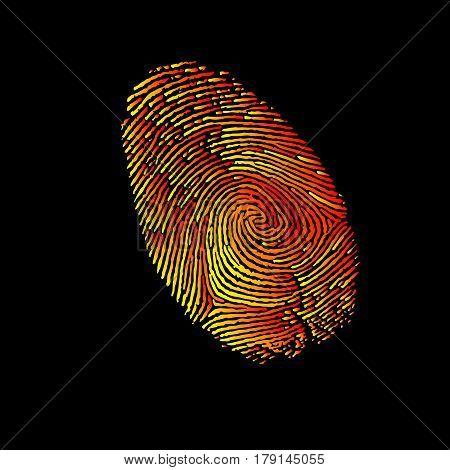 print, finger, fingerprint, vector, crime, identity, thumb, thumbprint, unique, security