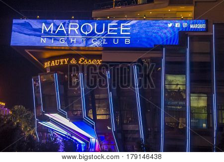 LAS VEGAS - NOV 08 : The Marquee Night club in Cosmopolitan hotel in Las Vegas on November 08 2016. The club with more than 60000 square feet host the best DJs from arounf the world.