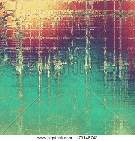 Retro abstract background, vintage grunge texture with different color patterns: yellow (beige); green; blue; red (orange); purple (violet); cyan