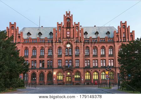 Sights Of Poland. Old Building Of Post Office In Koszalin.
