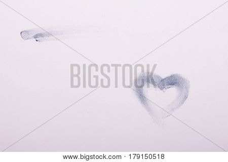 Image-heart, Drawn By Finger And Chalk, Backgrounds, Textures