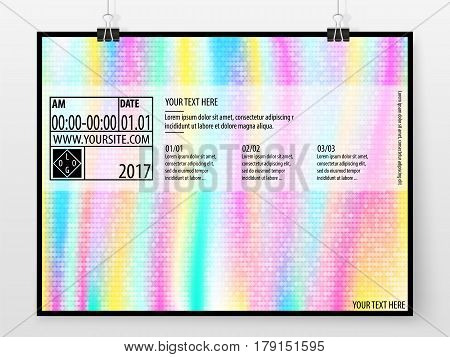 Poster Design Banner Business Concept Horizontal Holographic 1