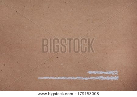 Drawing With White Chalk On Kraft Paper - Lines, Backgrounds, Textures