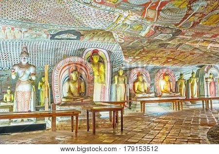 In Maharaja Cave Of Dambulla