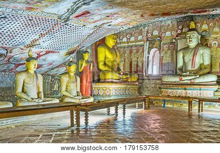 The Ancient Art Of Dambulla Temple Complex