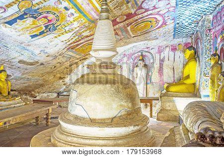 The Ancient Buddhist Temples In Dambulla