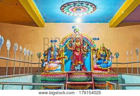 Altar Of Three Goddesses In Matale Temple