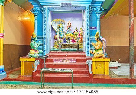 The Altar Of Ranganatha In Tamil Hindu Temple