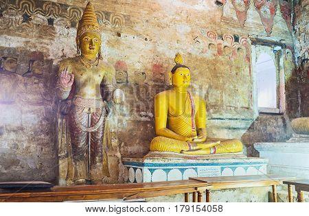 In Great Kings Cave Of Dambulla