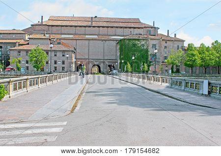 Giuseppe Verdi Bridge In Parma