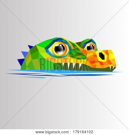 crocodile vector animal alligator green illustration predator reptile cartoon fun character