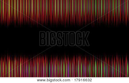 dark multicolored spikes