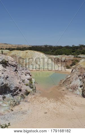 Excavated Landscape Historic Kapunda Copper Mine, South Australia