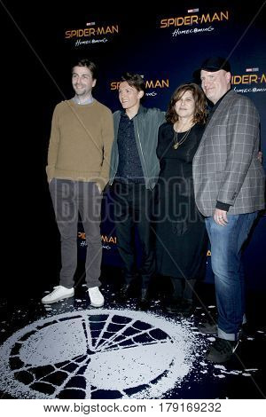 LAS VEGAS - MAR 27:  Jon Watts, Tom Holland, Amy Pascal, Kevin Feige at the Sony CinemaCon Photocall at the Caesars Palace on March 27, 2017 in Las Vegas, NV