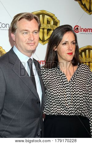 LAS VEGAS - MAR 29:  Christopher Nolan, Emma Thomas at the Warner Bros CinemaCon Photocall at the Caesars Palace on March 29, 2017 in Las Vegas, NV