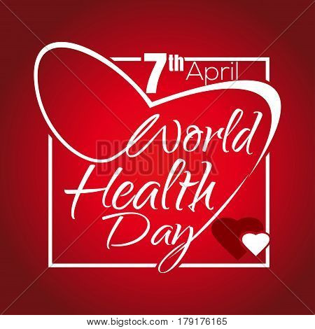 World Health Day. 7 April. Health Day lettering card. Typographic design. Vector greeting card with lettering