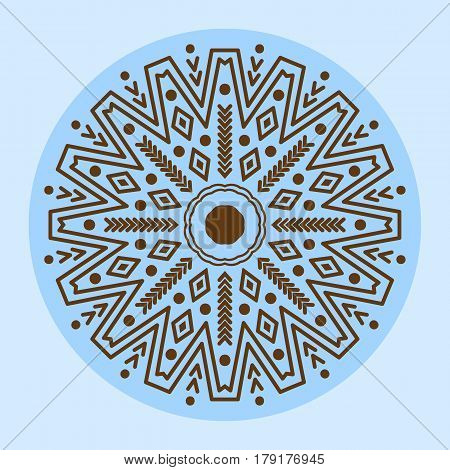 Henna tattoo brown mehndi flower template doodle ornamental lace decorative element and indian design pattern paisley arabesque mhendi embellishment vector. Traditional decorative mandala element.