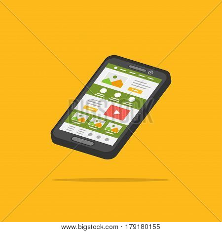 Landing page phone 3D isolated vector illustration. Smartphone web design 3D creative concept. Isometric graphic design.