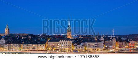 Stockholm city by night